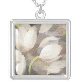 Tulip Delight II Silver Plated Necklace
