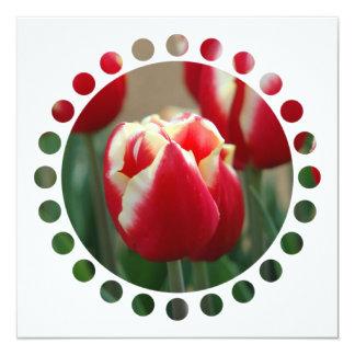 """Tulip Design Invitation 5.25"""" Square Invitation Card"""