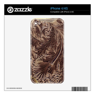 Tulip design printing block, 1875 (carved wood) decal for iPhone 4S