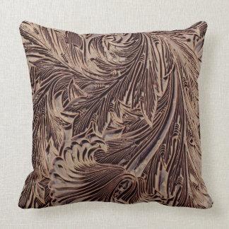 Tulip design printing block, 1875 (carved wood) throw pillow