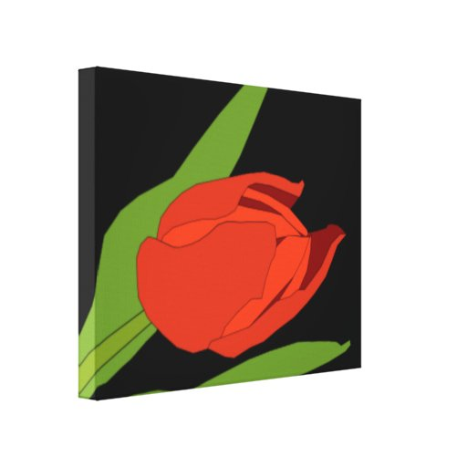 TULIP DIGITAL ART WALL ART Wrapped Canvas Gallery Wrapped Canvas
