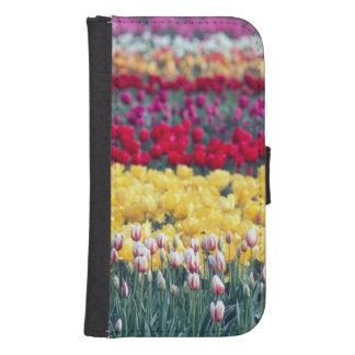 Tulip display garden in the Skagit valley, Samsung S4 Wallet Case