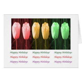 Tulip Eye Popping Art - HappyBirthday HappyHoliday Greeting Card