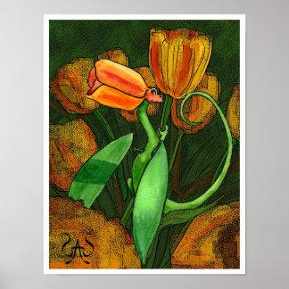 Tulip Fairy Dragon Poster