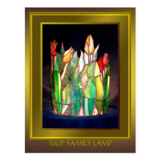 Tulip Family Lamp Design Postcard