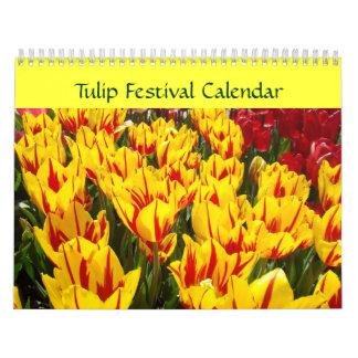 Tulip Festival Calendar Colorful Tulips Floral