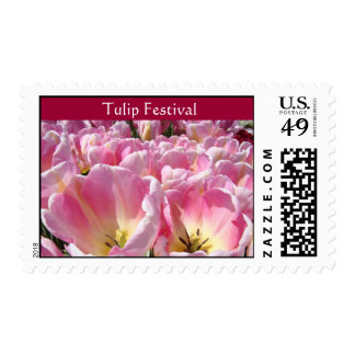 Tulip Festival postage stamps pink Tulips Flowers