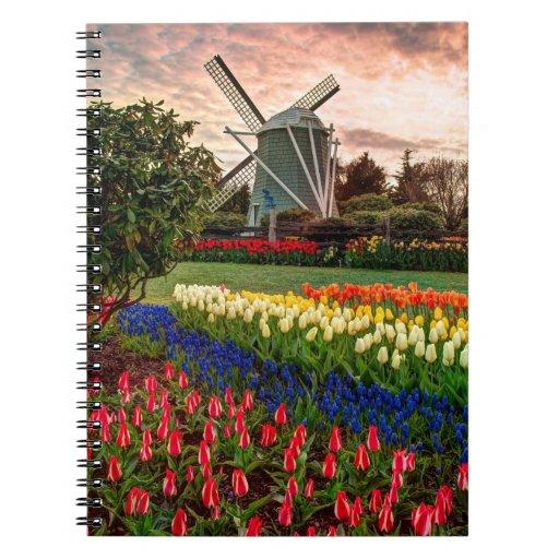 Tulip Festival Spiral Notebook
