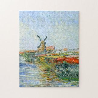 Tulip Field in Holland Monet Fine Art Puzzle