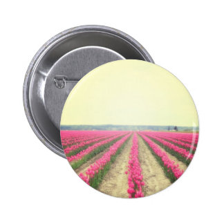 Tulip Fields Pinback Button