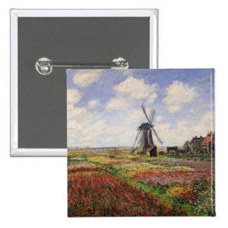 Tulip Fields with the Rijnsburg Windmill, 1886 Pinback Button