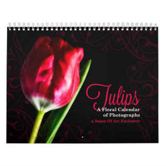 Tulip Floral - Choose the Year and Language Calendar