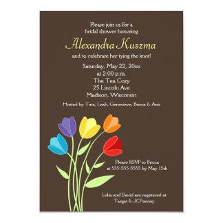 Tulip Flower 5x7 Bridal Shower Invite