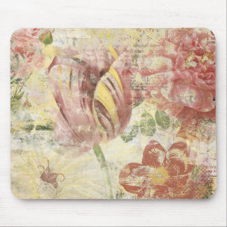 Tulip Flower Collage Mouse Pad