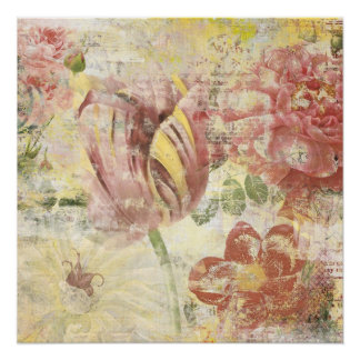 Tulip Flower Collage Poster