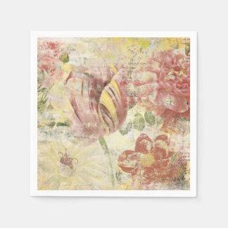 Tulip Flower Collage Paper Napkins