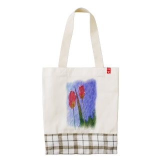tulip flower drawing zazzle HEART tote bag