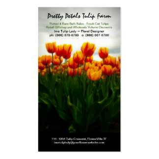 Tulip Flower Grower or Floral Sales Business Card