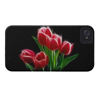 Tulip Flower Red Plant Case-Mate iPhone 4 Cases