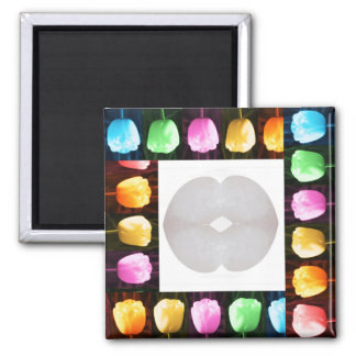 TULIP Flower Show and CRYSTIL KISS Refrigerator Magnet