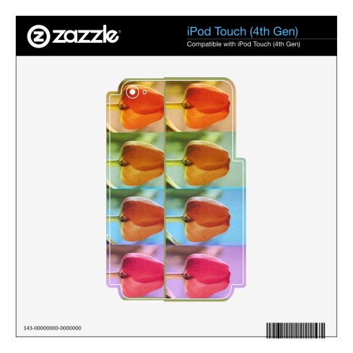 TULIP Flower Show Skin For iPod Touch 4G