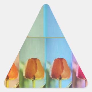 TULIP Flower Show Triangle Sticker
