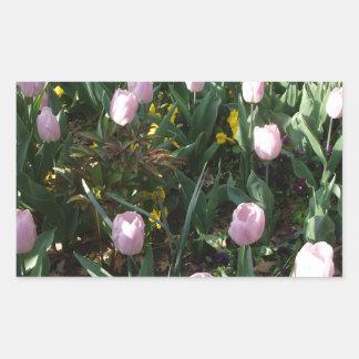 Tulip Flower Rectangular Sticker