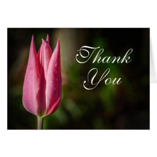 Tulip Flower Thank You Card