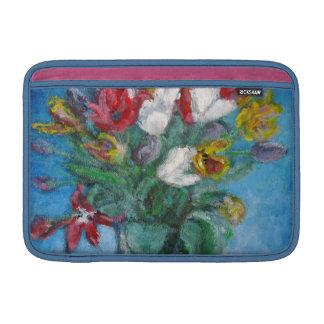 Tulip Flower Vase Floral Sleeve For MacBook Air