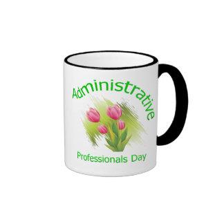 Tulip Flowers Administrative Professionals Day Ringer Mug