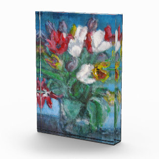 Tulip Flowers Bouquet Floral Paperweight Acrylic Award
