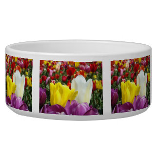 Tulip Flowers Designer Pet food bowl Tulips Dog Food Bowl