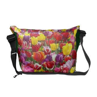 Tulip Flowers Messenger Bag Spring Garden custom
