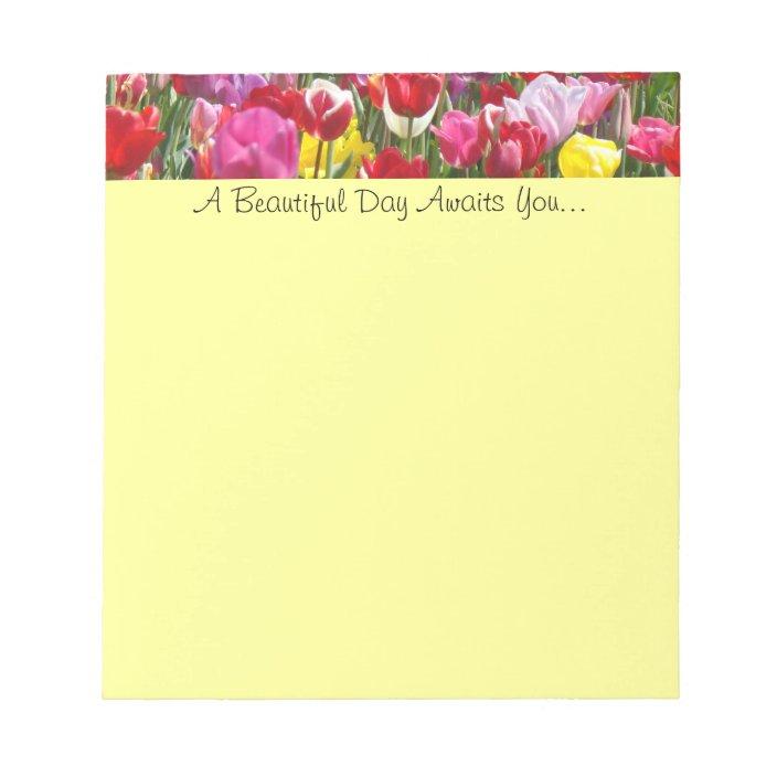 Tulip Flowers notepad Spring