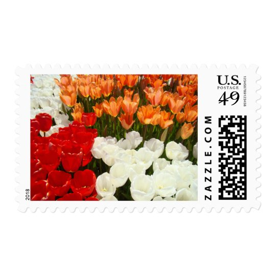 Tulip Flowers postage stamps Spring Festival