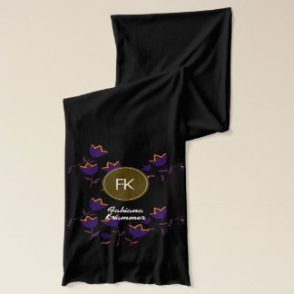 tulip flowers to personalize with name scarf