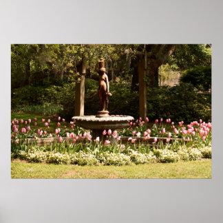Tulip Fountain Poster