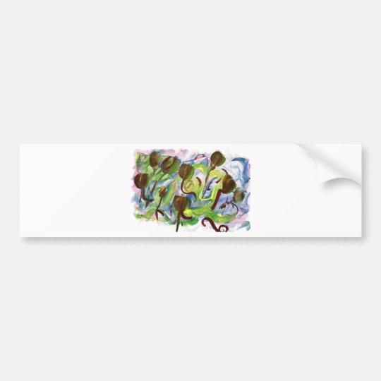 tulip frenzy bumper sticker