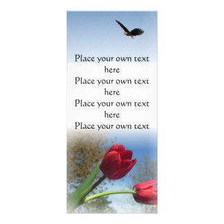 Tulip Garden bookmark -customize Rack Card