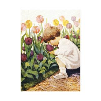 Tulip Garden Canvas Prints