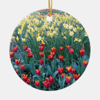 Tulip Garden Ceramic Ornament
