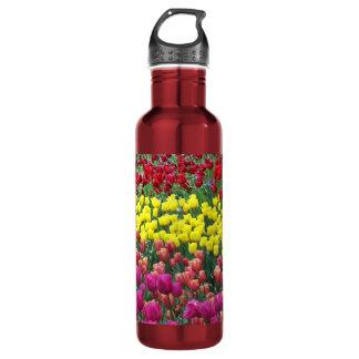 Tulip Garden Floral Water Bottle