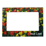 Tulip Garden in Orange and Yellow Magnetic Photo Frame