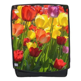 Tulip Garden in the Spring Backpack