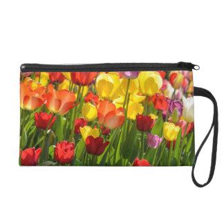Tulip Garden in the Spring Wristlet Purse