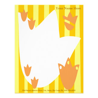 Tulip Garden Letterhead, Your Name Here, Full S... Letterhead