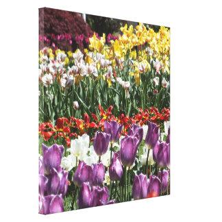 Tulip Garden Wrapped Canvas Print