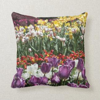 Tulip Gardens Throw Pillow