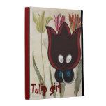 Tulip girl iPad case