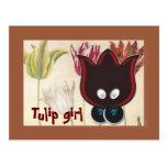 Tulip Girl Postcard